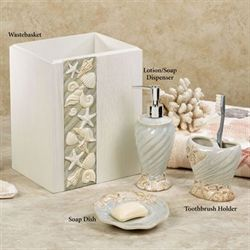 Seashore Lotion Soap Dispenser Natural