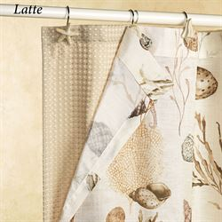 Spa Waffle Shower Curtain 70 x 72