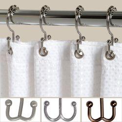 Double Roller Shower Hooks Set of Twelve