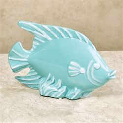 Fish Table Sculpture Pale Aqua