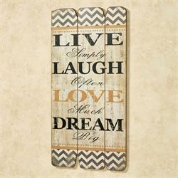 Live Laugh Love Dream Wall Plaque Multi Cool