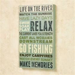 Life on the River Wall Plaque Multi Cool