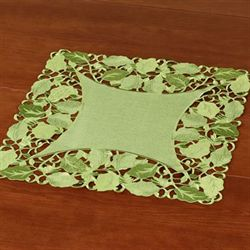 Foliage Green Small Table Topper Peridot 20 Square