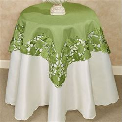 Foliage Green Table Topper Peridot 36 Square