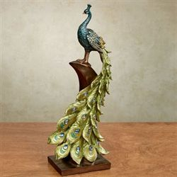 Peacock Perch Sculpture Multi Cool