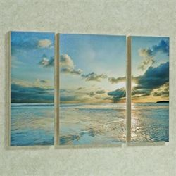 Taylor Bay Triptych Canvas Art Multi Cool Set of Three