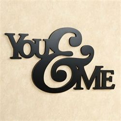 You and Me Word Wall Art Black