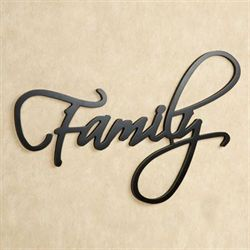 Family Word Wall Art Black
