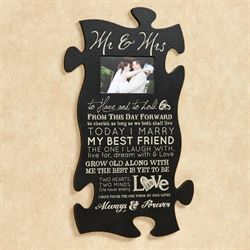 Mr and Mrs Quote Photo Frame Black