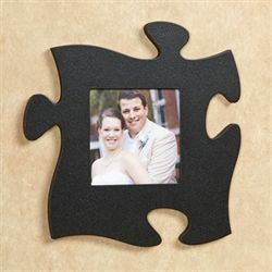 Puzzle Piece Photo Frame Black