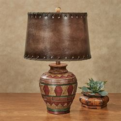Sarita Sand Table Lamp Multi Earth Each with LED Bulb