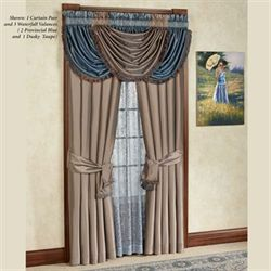 Royale Waterfall Valance Provincial Blue 48 x 30