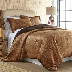 Cheetah Mini Comforter Set Caramel