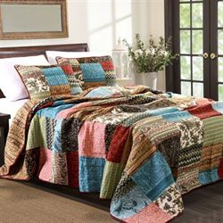 New Bohemian Bedspread Set Multi Warm
