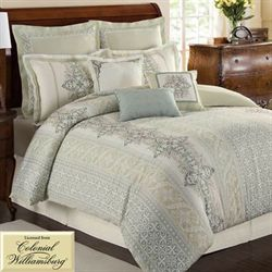 Davenport Scroll Comforter Set Ivory