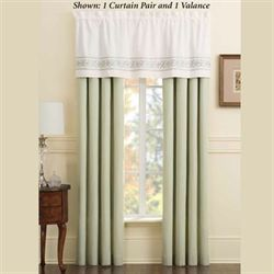 Davenport Scroll Tailored Curtain Pair Ivory 84 x 84