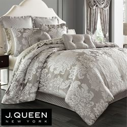 Chandelier Comforter Set Silver Gray