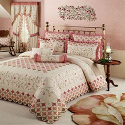Coras Garden Grande Bedspread Ivory
