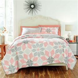 Canyon Quilt Set Ivory