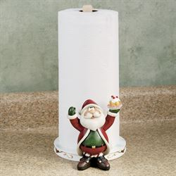 Santa Claus Paper Towel Holder White