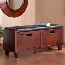 Corintha Two Drawer Storage Bench Classic Cherry