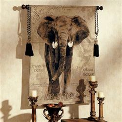 African Voyage I Elephant Wall Tapestry