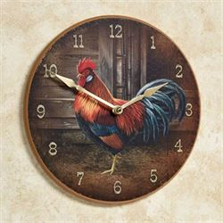Rooster Wall Clock Multi Warm