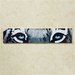 Siberian Blue Tiger Eyes Canvas Wall Art Gray