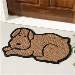 Dog Doormat Brown 16 x 26