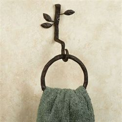 Nature Walk Towel Ring Brown