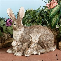 Prideful Family Rabbit Sculpture Multi Warm