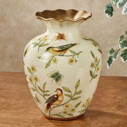 Kailasa Birds Vase Ivory