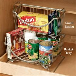 Paxton Stacking Basket Tray Satin Nickel