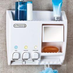 Shower Dispenser Organizer White