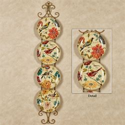 Kestrel Birds Decorative Plates Cream Set of Four
