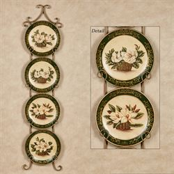 Magnolia Decorative Plates Ivory Set of Four & Decorative Plates and Racks | Touch of Class