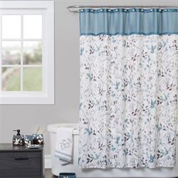 Passell Shower Curtain Slate Blue 72 x 72