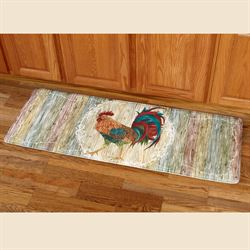 Rooster Strut Runner Mat Multi Jewel 20 x 55