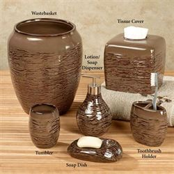 Birch Reflections Lotion Soap Dispenser Brown