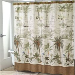 Colony Palm Shower Curtain Ivory 72 x 72