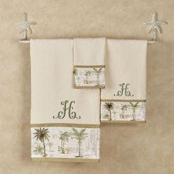 Colony Palm Towel Set Ivory Bath Hand Fingertip