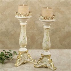 Rose Vine Candleholder Set  Set of Two