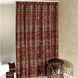 High Plains Shower Curtain Multi Warm 72 x 75