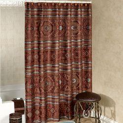 High Plains Shower Curtain Multi Warm 72 x 75