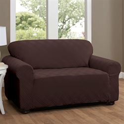 Double Diamond Stretch Slipcover Loveseat