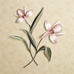 Orchid Spray Metal Wall Sculpture