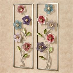 Blooms of Spring Floral Wall Art Multi Pastel Set of Two