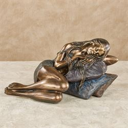 Woman at Rest Table Sculpture Bronze