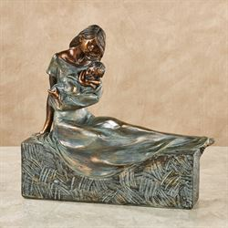 Sweet Embrace Table Sculpture Verdi Bronze