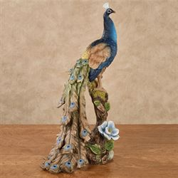 Royal Beauty Peacock Table Sculpture Indigo